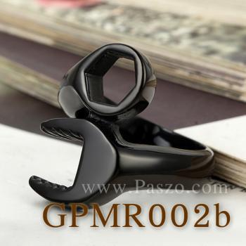 แหวนประแจ แหวนชุบรมดำ แหวนสแตนเลส #3