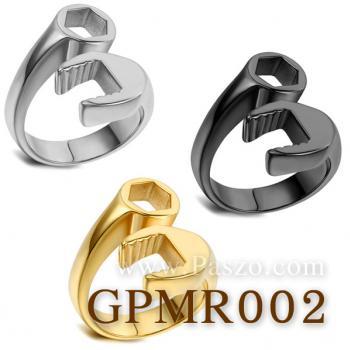 แหวนประแจ แหวนชุบรมดำ แหวนสแตนเลส #4