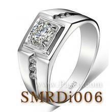 แหวนเพชร แหวนผู้ชาย แหวนเงินแท้ แหวนขนาดกลาง