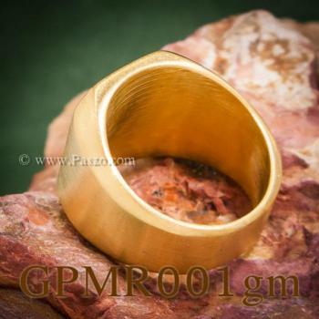 แหวนสี่เหลี่ยมหน้าเรียบ แหวนทองชุบ ปัดด้าน #4