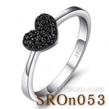 แหวนรูปหัวใจ แหวนนิล แหวนเงินแท้