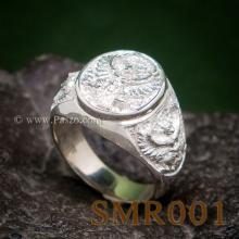 แหวนครุฑ แหวนเงิน แหวนเงินผู้ชาย แหวนพญาครุฑ3องค์