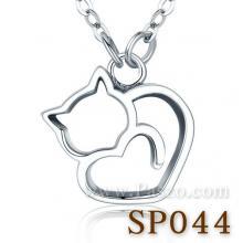 จี้แมว จี้เงิน จี้รูปหัวใจ แมวหัวใจ