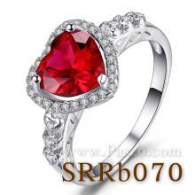 แหวนพลอยหัวใจ แหวนทับทิม แหวนล้อมเพชร แหวนเงินแท้