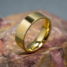 แหวนเกลี้ยง ชุบทอง หน้ากว้าง6มิล แหวนสแตนเลส