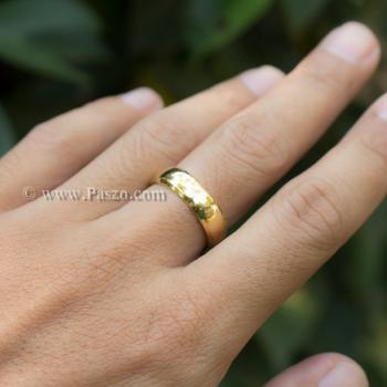 แหวนทองชุบ แหวนเกลี้ยง บ่าแหวนตะไบเฉียง #3