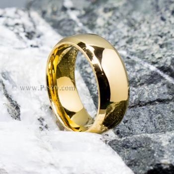 แหวนเกลี้ยง แหวนทองชุบ หน้ากว้าง8มิล #5