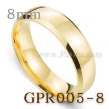 แหวนเกลี้ยง แหวนทองชุบ หน้ากว้าง8มิล แหวนสแตนเลส บ่าแหวนตะไบเฉียง