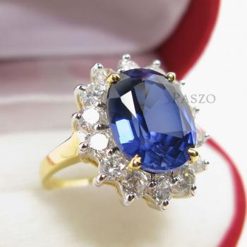 แหวนไพลิน พลอยสีน้ำเงิน ล้อมเพชร #4