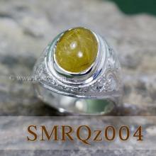แหวนแก้วไหมทอง แหวนผู้ชาย แหวนทรงมอญ แหวนเงินแท้