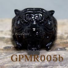 แหวนเสือ แหวนปีขาล แหวนพยัคฆ์ แหวนสแตนเลส ขุบรมดำ แหวนเทห์ๆ