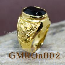 แหวนครุฑ แหวนผู้ชายทอง ฝังนิล แหวนทองแท้ แหวนนิลผู้ชาย