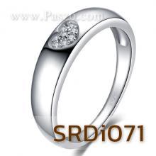แหวนรูปหัวใจ แหวนเพชร แหวนเงินแท้