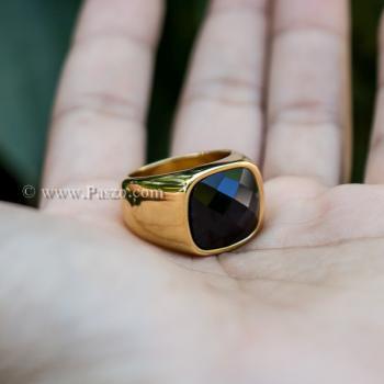 แหวนนิล แหวนผู้ชาย แหวนทองชุบ #3