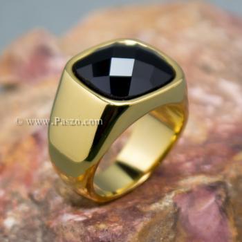 แหวนนิล แหวนผู้ชาย แหวนทองชุบ #6