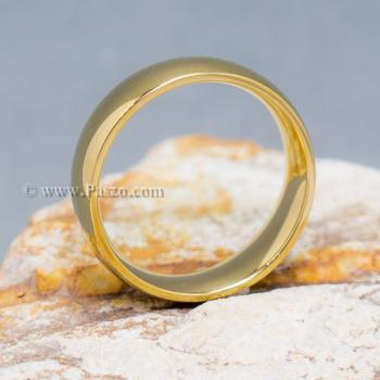 แหวนทอง แหวนเกลี้ยง แหวนหน้าโค้ง #4