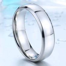 แหวนสแตนเลส แหวนเกลี้ยง หน้ากว้าง6มิล แหวนตะไบขอบเฉียง