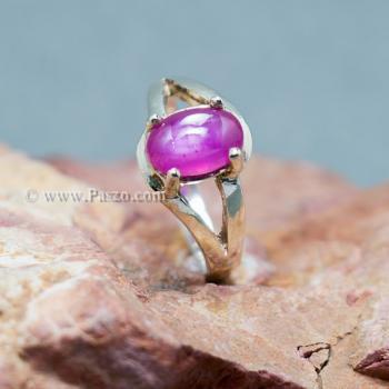 แหวนพลอยทับทิม พลอยแท้ แหวนเงินแท้ #2