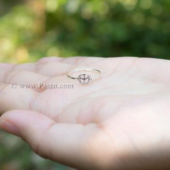 แหวนเงินแท้ สัญลักษณ์สันติภาพ PEACE #3