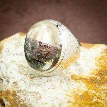 แหวนแก้วโป่งข่าม แหวนทรงมอญแกะลาย แหวนผู้ชาย แหวนเงินแท้