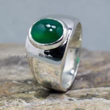 แหวนพลอยโมรา แหวนผู้ชายแบบเล็ก แหวนเงินแท้