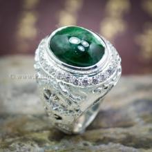 แหวนมังกร แหวนหยก แหวนผู้ชาย แหวนเงินแท้ ล้อมเพชร