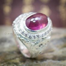 แหวนมังกร แหวนทับทิม แหวนผู้ชาย แหวนเงินแท้ ล้อมเพชร