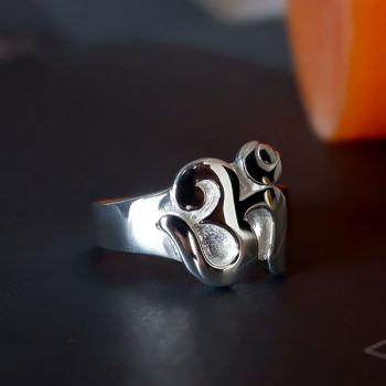 แหวนสัญลักษณ์โอม แหวนโอม แหวนเงินแท้ #2