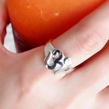 แหวนสัญลักษณ์โอม แหวนโอม แหวนเงินแท้ #4