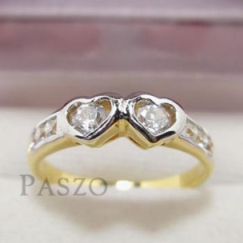แหวนเพชร แหวนหัวใจ แหวนทองชุบ #2