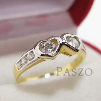 แหวนเพชร แหวนหัวใจ แหวนทองชุบ #3