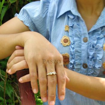 แหวนเพชร แหวนหัวใจ แหวนทองชุบ #4