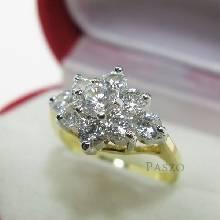 แหวนดอกพิกุล แหวนดอกไม้ แหวนทองชุบ แหวนเพชร