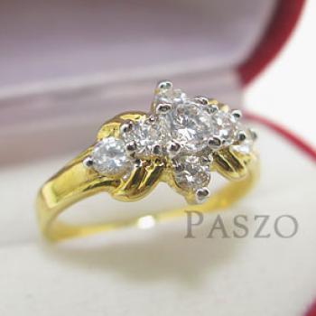 แหวนเพชร แหวนดาวกระจาย แหวนทองชุบ #3