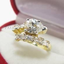 แหวนเพชรทรงหยดน้ำ แหวนทองชุบ แหวนเพชร
