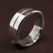 แหวนเซาะร่อง หน้ากว้าง8มิล แหวนเงินแท้ แหวนเกลี้ยง