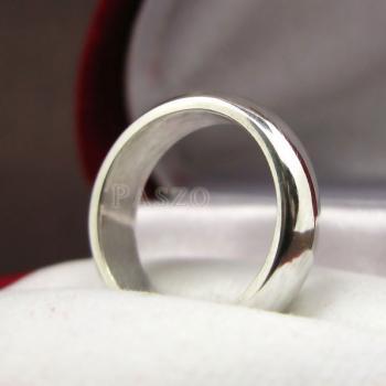 แหวนเกลี้ยงหน้าโค้ง กว้าง4มิล แหวนปลอกมีด #5
