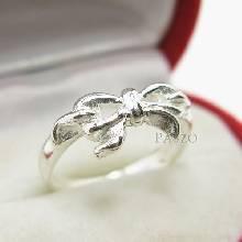 แหวนผูกโบว์ แหวนเงินแท้ 925