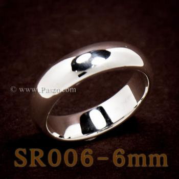 แหวนเกลี้ยงหน้าโค้ง กว้าง6มิล แหวนปลอกมีด #2