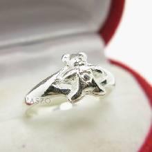 แหวนหมีเท็ดดี้แบร์ แหวนตุ๊กตาหมี แหวนเงินแท้ 925