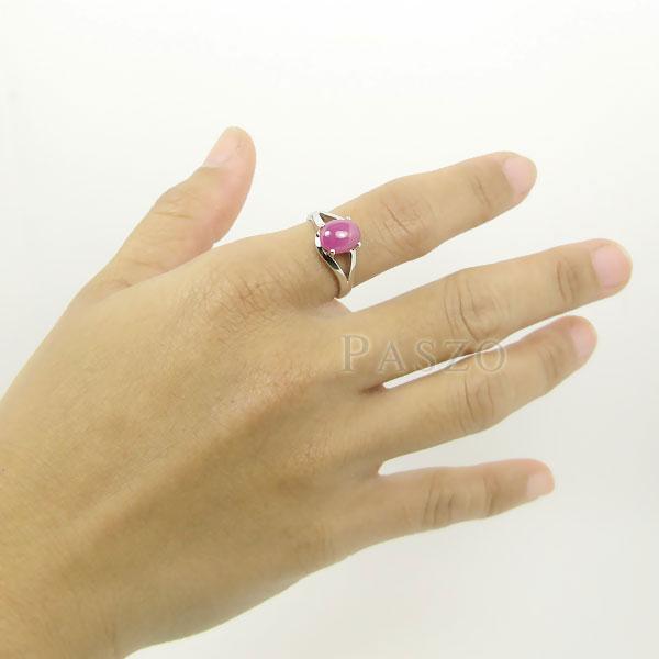แหวนพลอยทับทิม พลอยแท้ แหวนพลอยเม็ดเดี่ยว #4