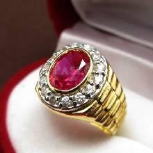 แหวนโรเล็กซ์ แหวนพลอยผู้ชาย แหวนทับทิม ล้อมเพชร แหวนผู้ชายทองแท้ แหวนขนาดกลาง
