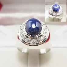 แหวนนิหร่า แหวนผู้ชาย แหวนพลอยนิหร่า ล้อมเพชร แหวนเงินแท้ แหวนผู้ชายนิหร่า