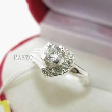แหวนเพชร แหวนหัวใจ แหวนเงินฝังเพชร