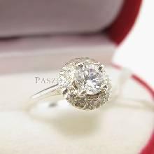 แหวนเพชร แหวนกระจุก แหวนเงินฝังเพชร