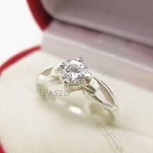 แหวนเพชร แหวนเพชรเม็ดเดี่ยว แหวนเงินฝังเพชร