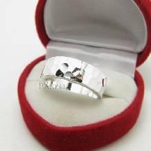 แหวนลายค้อนทุบ หน้ากว้าง8มิล แหวนเงินแท้ ตอกลายค้อนช่างทอง