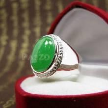 แหวนหยกผู้ชาย แหวนเรียบๆ แหวนผู้ชาย แหวนผู้ชายเงินแท้ แหวนฝังหยก