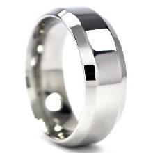 แหวนตะไบขอบเฉียง หน้ากว้าง8มิล แหวนเงินแท้ แหวนเกลี้ยง
