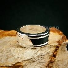 แหวนเซาะร่อง หน้ากว้าง10มิล แหวนเงินแท้ แหวนเกลี้ยง